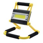 20W COB LED Rechargeable Folding Work Light and Power Bank - 750 to 1,500 Lumens