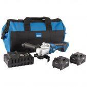 D20 20V 115mm Brushless Grinder Kit (+2 x 5Ah Batteries, Charger and Bag)
