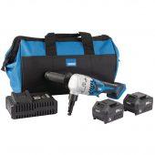 D20 20V Brushless Nibbler Kit (+2 x 5Ah Batteries, Charger and Bag)