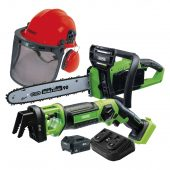 D20 Cordless Garden Saw Kit with Forestry Helmet