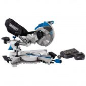 D20 20V Brushless 185mm Sliding Compound Mitre Saw with 5Ah Battery And Twin Charger